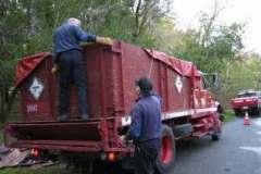 Transporting material